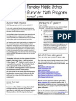 2013 Incoming 6th Grade Summer Math Packet(1)