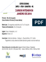 Cartaz Cursos Intensivos 2014