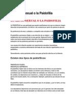 El Abuso Sexual o La Paidofilia