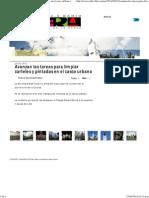 Avanzan Las Tareas Para Limpiar Carteles y Pintadas en El Casco Urbano _ RadioVibra 93