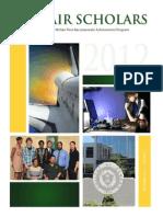 McNair Scholars Research Booklet 2012 Vol. 5