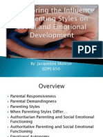 exploring the influence of parenting styles on social