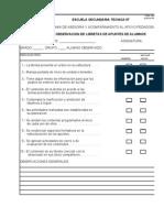 Formato 1 Observacion de Libretas de Alumnos