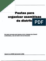 Pautas Para Organizar Asambleas de Distrito