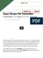 Super Simple FM Transmitter _ MAKE