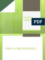 MARCO JURIDICO Discpacidad y Integracion
