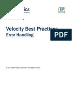 Informatica Best Practices - Error Handling
