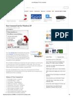 List of Windows XP Run Commands