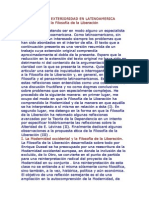 Modernidad y Exterioridad en Latinoamerica