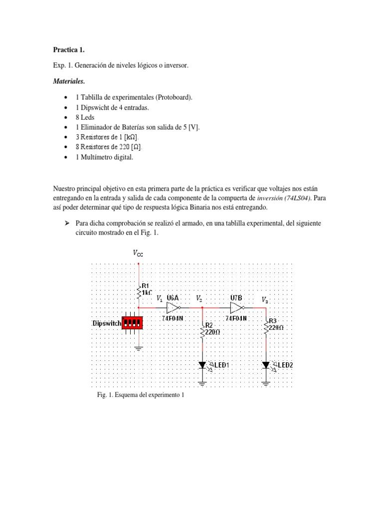 Circuito Xnor : Practica 1 circuitos digitales