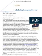 ConJur -A Katchanga e o Bullying Interpretativo No Brasil