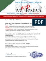 creative arts festival flyer