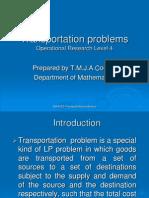 Transportation Problems