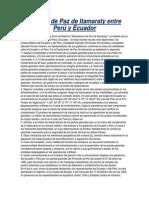 Tratado de Paz de Itamaraty Entre Perú y Ecuador