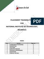 PlacementTrainingPlan-NITRourkela20140530
