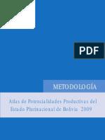 Metodología Del Atlas de Potencialidades Productivas Del Estado Plurinacional de Bolivia
