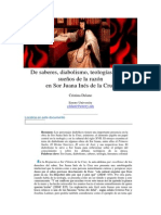 Sor Juana- De Saberes, Diabolismo, Teología y Otros Sueños de La Razón