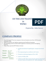 OJT in Wipro