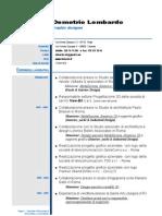 Curriculum Demetrio Lombardo