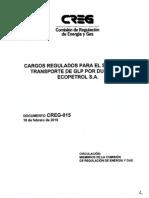 D-015-10 Tarifas de Transporte de Glp