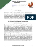 Comunicado Inhumación en COMALAPA 18 y 19 de JULIO 2014