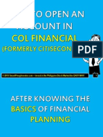 How to Open an Account in COL Financial (CITISECONLINE)