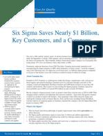 Six Sigma Saves Nearly 1 Billion Key Customers a Company 1233527779769686 2