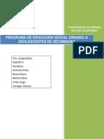 Programa de Educación Sexual Dirigido a Adolescentes de Secundaria 1.