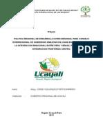 Politica Regional de Integracion Binacional-borrador