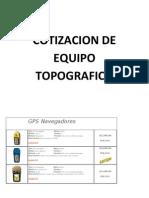Cotizacion Equipo Topografico 22