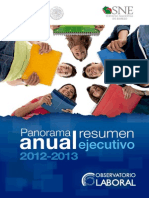 Panorama Ejecutivo Del OLA 2012-13