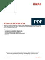 Aluminium AW 6063 T5 Flat