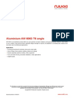 Aluminium AW 6063 T6 Angle