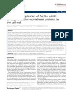 Analysis and Application of Bacillus Subtilis