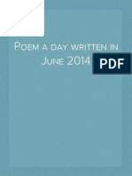 A poem a day written in June 2014