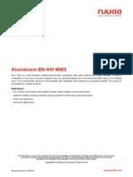 Aluminium en AW 6082