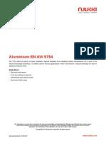 Aluminium en AW 5754