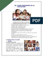 "3er. Tema La Familia Lugar Originario de La Educaciã""n"
