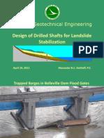 drilled shaft slope stabilization