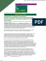 ECG Monitoring - ST Segment Monitoring - AJCC 1999