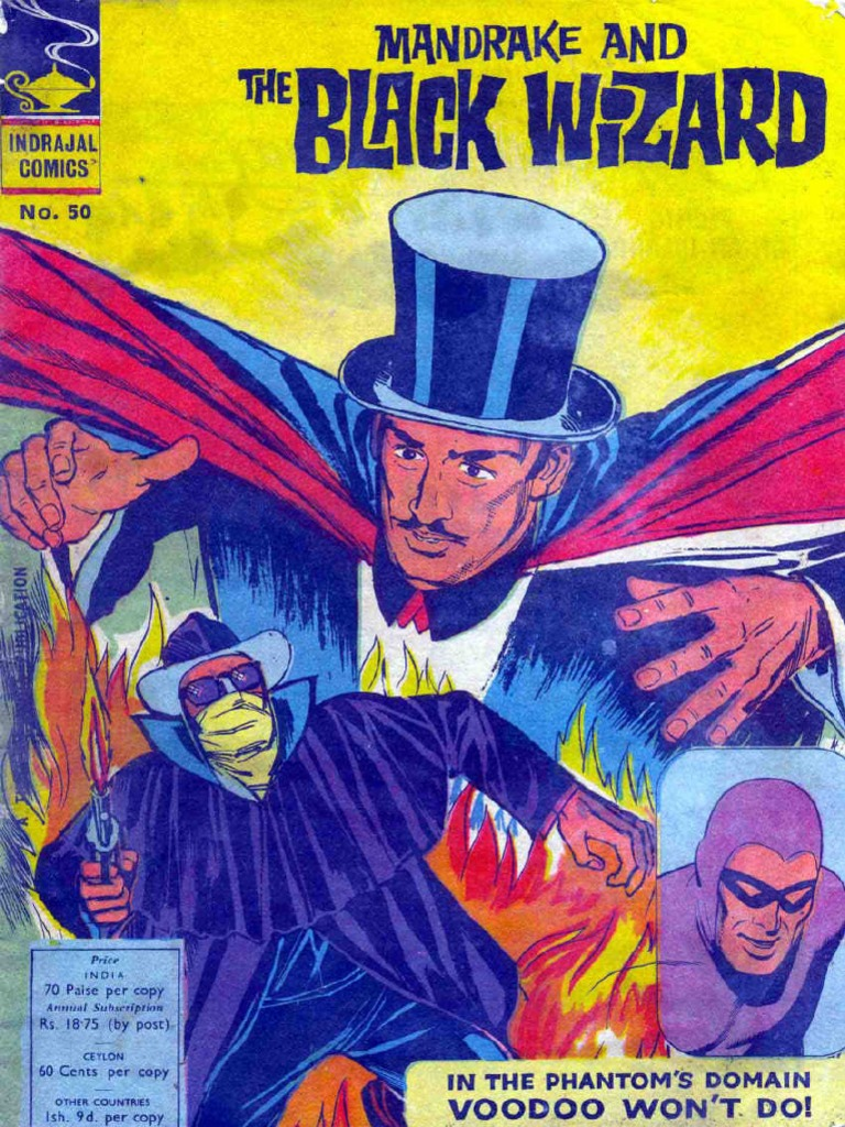 indrajal comics 050 - mandrake - mandrake and the black wizard