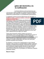DOMICILIO TIPOS NOTIFICACIOIN