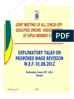 Presentation to Unions on Wage Revision on 29.01.2014