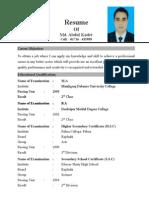 Adbul Kader CV