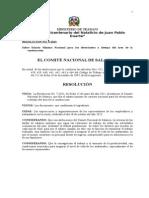 Resolucion No. 9-2013 - Electricistas. Refrendada