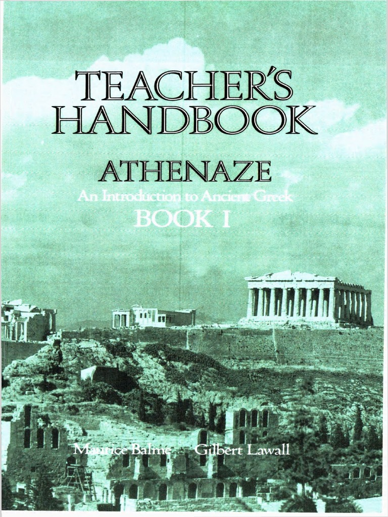 Athenaze Teacher\'s Handbook 1 | Muse | Grammatical Gender