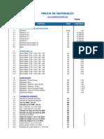 Precio Materiales y Mano de Obra RD