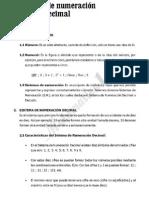 Sistemas de Numeracion Decimal y No Decimal