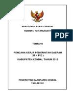 RKPD  Kabupaten Kendal Tahun 2012