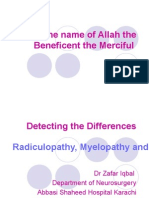 Detecting the Differences Radiculopathy, Myelopathy and Peripheral Neuropathy